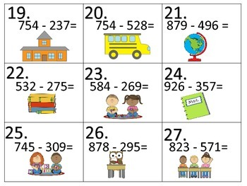 Add--Subtract--Multiply--Divide:  Back to School Theme