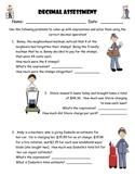 Add, Subtract, Multiply, Divide Decimal Assessment/Test/Quiz