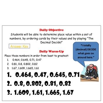 Add, Subtract, Multiply, Divide Decimal & Place Value Activity Bundle