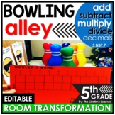 Add Subtract Multiply Divide Decimals | Bowling Room Trans