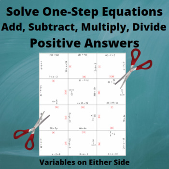 Add, Subtract, Multiply, Divide Equations : Variables on Either side : Positive