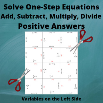 Add, Subtract, Multiply, Divide Equations : Variables on the Left side :Positive