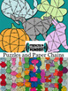Add, Subtract, Multiply, Divide Fractions BAT Partner Puzzle (Halloween)