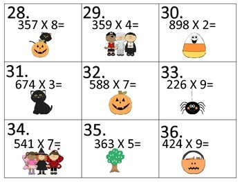 Add---Subtract---Multiply---Divide---Halloween Theme