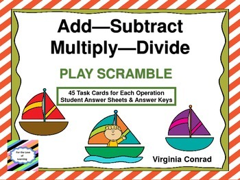 Add--Subtract--Multiply--Divide:  Sailing Theme