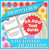 Add, Subtract, Multiply and Divide Task Cards ENDLESS Bundle: Word Problems