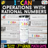 7th Grade Math Game   Operations with Rational Numbers