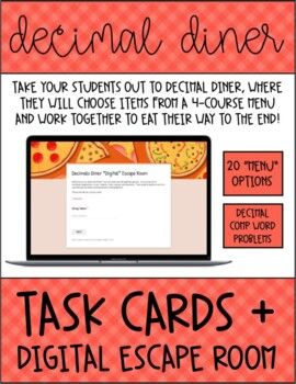 Add, Subtract, Multiply, and Divide Decimals Task Cards