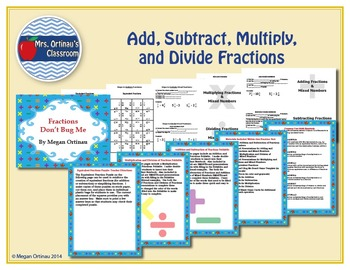 Add, Subtract, Multiply, and Divide Fractions and Mixed Numbers Unit