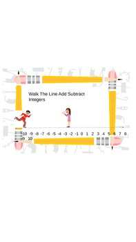 Add Subtract Positive and Negative Integers Walk the Line