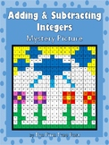 Adding & Subtracting Integers Mystery Picture Activity [Spring]