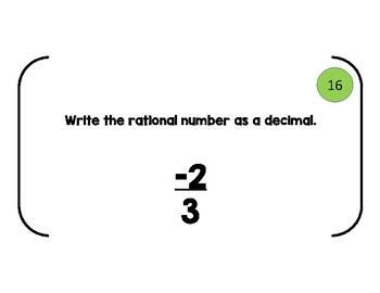 Add/Subtract Rational Numbers - Decimals