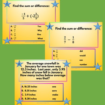 Add & Subtract Rational Numbers Walk-About