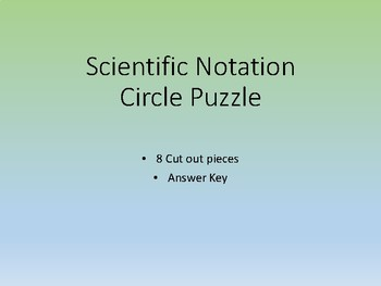 Add & Subtract Scientific Notation Puzzle