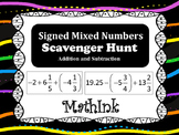Add & Subtract Signed Mixed Numbers Scavenger Hunt