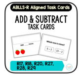 Add & Subtract Task Cards [ABLLS-R Aligned R17, R18, R20,