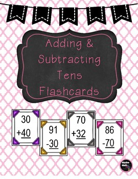 Add & Subtract Tens Flashcards