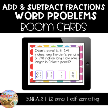 Add & Subtract Word Problems - Boom Cards