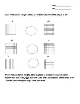 Add/ Subtract and compare decimals