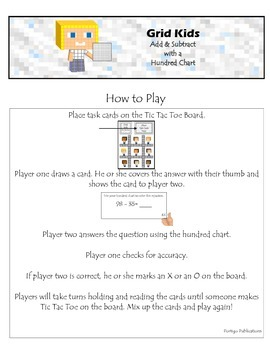 Add / Subtract with Hundred Chart: Math Stations