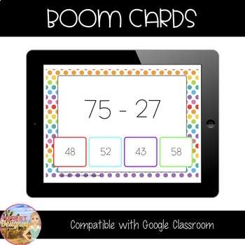 Add & Subtract with Regrouping - Boom Cards