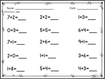 Add & Subtract within 20 (Fluent within 10): 1.OA.C.6 Common Core Math