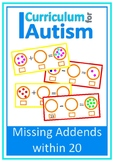 Missing Addends Add Subtract to 20 Autism Special Education