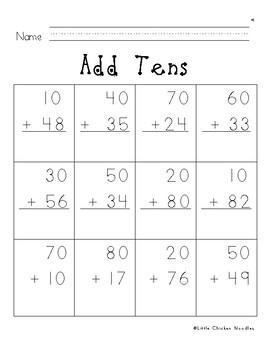 Add & Subtract Tens