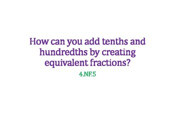 Add Tenths and Hundredths PowerPoint