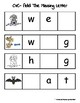 Add The Missing Letter- CVC Words With Pictures