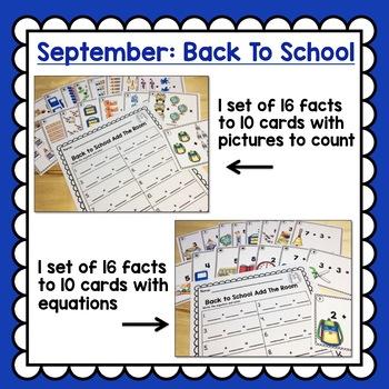 Add The Room Math Centers Kindergarten