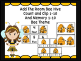 Add The Room Bee Hive, Memory 1-10 And Count and Clip