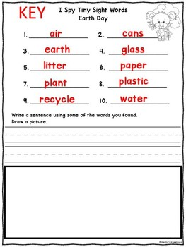 Add The Room Recycle (& I See Tiny Earth Day Words)