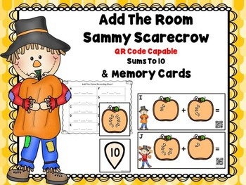 Add The Room Sammy Scarecrow Sums To 10 * Bonus Matching Cards