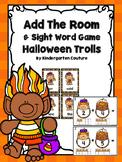 Add The Room & Sight Word Pocket Chart Game -Halloween Trolls