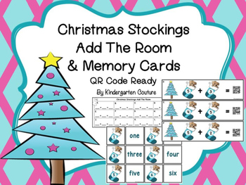 Add The Room Sums To 10 (Christmas Stockings) QR Code Ready