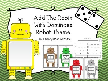 Add The Room With Dominoes -Robot Theme  Sums To 10