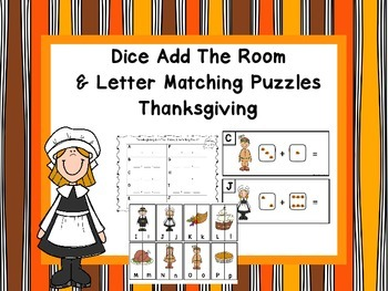 Add The Room and Letter Matching Puzzles -Thanksgiving
