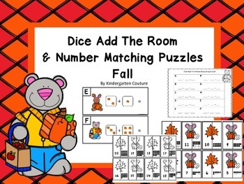 Add The Room and Ten Frame Number Matching Puzzles -Fall