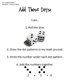 """""""Add Those Dots"""" Dot Pattern Recognition Dice Game"""