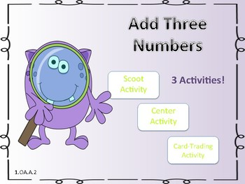Add Three Numbers Activities