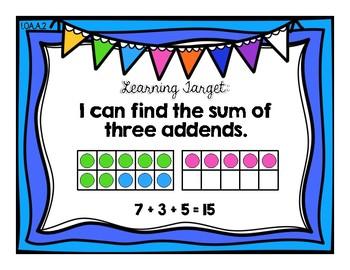 Add Three Numbers {Common Core Math Resources}