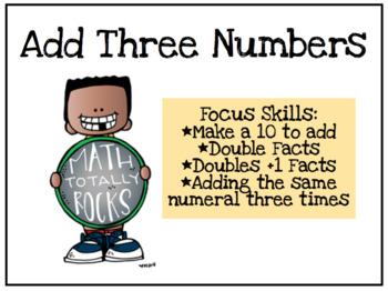 Add Three Numbers Scoot