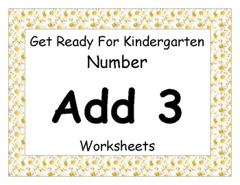 Add Three Worksheets Pack