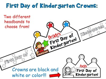 First Day of Kindergarten Crowns