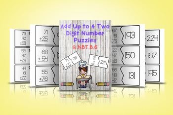 Add Up to 4 Two Digit Numbers Puzzle