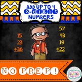 Add Up to Four 2 Digit Numbers NO PREP!