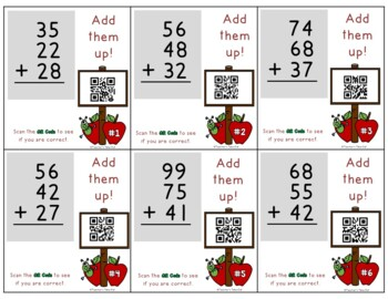 Add Up to Four 2-Digit Numbers with QR Codes