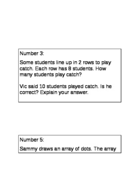 Add Using Array Task Cards