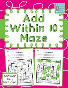 Add Within 10 Maze